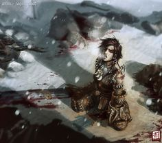 Pathfinder Amiri Raging Blood by stuartx4