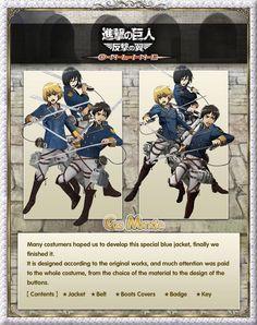 Attack on Titan / Shingeki no Kyojin: Jiyuu no Tsubasa - Eren Jaeger Cosplay Costume -- Continue to the product at the image link.