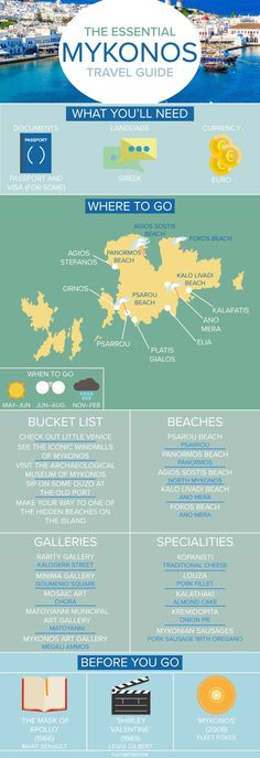 The Essential Travel Guide to Mykonos (Infographic)|Pinterest: /theculturetrip/