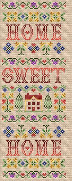 Maria Diaz Designs: Home Sweet Home (Cross-stitch chart)