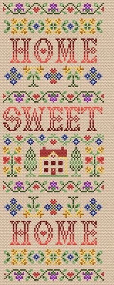 Maria Diaz Designs: Home Sweet Home (Cross-stitch chart)