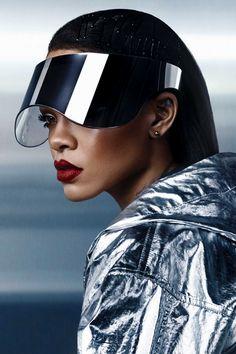 "smokingsomethingwithrihanna: """"Rih x Puma "" "" Moda Cyberpunk, Photography Poses, Fashion Photography, Retro, Space Fashion, Rihanna Fenty, Vogue, Fashion Portfolio, Space Grunge"