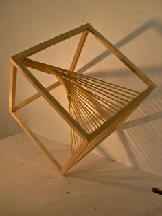 WOOD STRUCTURES by Álvaro Díaz, via Behance