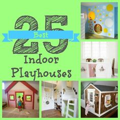 Inspiration for children's indoor playhouses!  |  Remodelaholic
