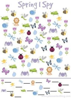 Spy Game for Spring Spring I Spy Game {free printable!}Spring I Spy Game {free printable! Spring Theme, Spring Party, Spring Activities, Preschool Activities, Visual Motor Activities, Nature Activities, I Spy Games, Skip Counting, Counting Activities