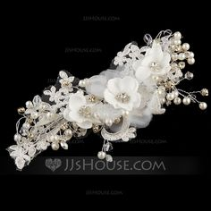 [US$ 29.99] Beautiful Crystal/Imitation Pearls/Artificial Silk/Lace Flowers & Feathers (042071676)