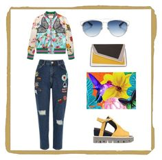 The Seven Ways to Wear - Denim by sortmywardrobe.co.uk by sortmywardrobe on Polyvore featuring polyvore, fashion, style, Gucci, River Island, Strategia, âme moi, Christian Dior and clothing