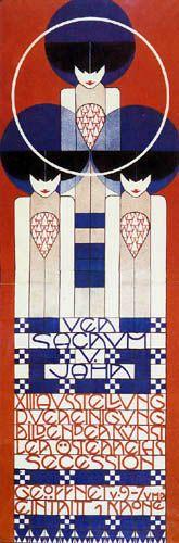 MOSER affiche pour la 13eme exposition de la Sécession Viennoise, 1902