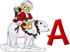 Alfabeto de ositos para Navidad.