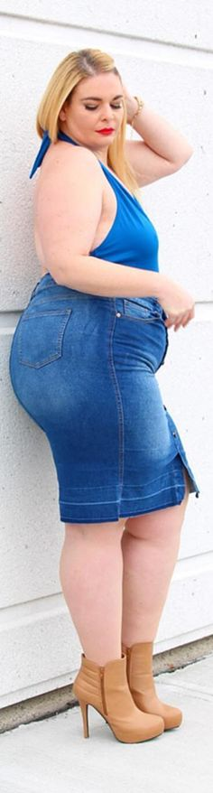 Caterina!!! Curvy Plus Size, Plus Size Model, Big Girl Fashion, Womens Fashion, Nice Curves, Chubby Ladies, Fat Women, Big And Beautiful, Well Dressed