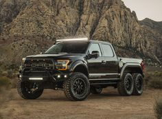 based on the 2018 ford raptor truck, hennessey transforms the 4x4 into a six-wheel drive off-road vehicle with more than 600 horsepower.