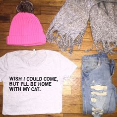 Because cats are the best of profits are donated to animals shelters :) Save the kitties!This shirt is soft and great quality but it runs small. Dog Mom Shirt, Secret To Success, Cat Shirts, T Shirts For Women, Clothes For Women, Grey Shirt, Printed Shirts, Trending Outfits, My Style