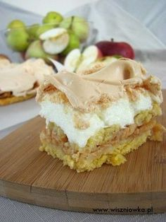 Polish Recipes, Cake Cookies, Apple Pie, Sweet Recipes, Mango, Cheesecake, Food And Drink, Cooking Recipes, Yummy Food