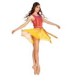 V-Back Overdress with Sash - Ballet/Lyrical | DiscountDance.com