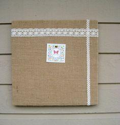 Bulletin Board Natural Burlap and Lace box frame by jensdreamdecor, $24.50