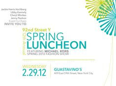 92Y Spring Luncheon Invitation on Behance