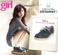 Giveaway! Hyun-A's Oxford! I want to have one of those with all my heart ♥ Thanks a lot for this fantastic gift! I♥Kpop!~Hyuna~4minute~사랑해요 ♥!! I♥LeBunny Bleu!~~사랑해요 ♥!!