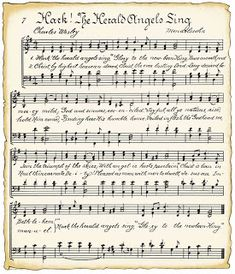 Free Christmas music printables with a vintage look.