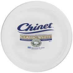 Chinet Classic White Dinner Plates, 80ct
