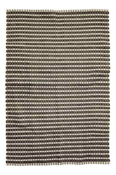 Jacquard-weave cotton rug