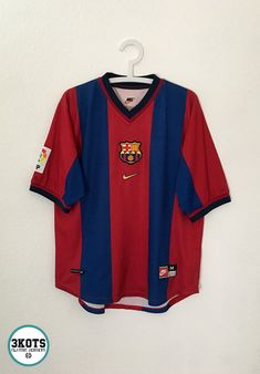 ed87afc50a9 BARCELONA FC 1998/00 Home Football Shirt M NIKE Vintage Soccer Jersey #Nike  #