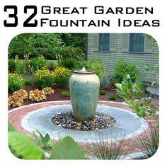 32 Inspiring Garden Fountain Ideas