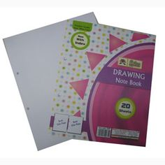 Lotus Drawing book - 20 Sheets — Teach your children the importance of art and creativity with this Drawing Book for Kids. Loose sheets of Drawing paper for easy handling and wider space to draw and paint.