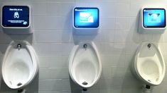 Captive Media interactive urinals - BBC News - Toilet gaming technology targets urinal boredom
