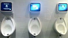 Captive Media interactive urinals - BBC News - Toilet gaming technology targets urinal boredom
