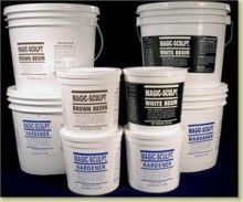 Magic-Sculpt is a two-part epoxy clay specifically designed to meet the needs of modelers, crafters and sculptors alike. One of the only epoxies that will smooth out with water and can be handled like any water-based clay. Its grain structure is finer than any other product available and will not shrink or crack even when formed in large structures.