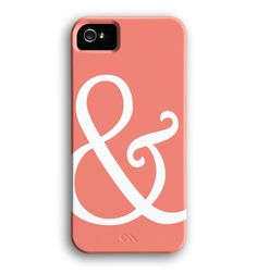 Ampersand coral iPhone 5 case.