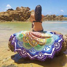 Indian Mandala Tapestry Boho Lotus Bohemian Beach Throw