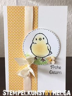 handmade Easter card ... luv the soft sponged color on the Easter chick ... Stampin' Up!