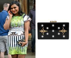 Mindy accessorized her Clover Canyon dress with this embellished clutch when she attended the 'Made with Code' kickoff. Thalé Bl...