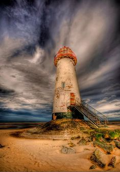 Point of Ayr lighthouse	Talacre beach.	Gower Peninsula, south  		Wales 	53.356952, -3.322052