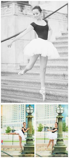 ballet senior portraits, ballet ideas, best senior photography, senior portrait ideas, senior photography, young dancer, natural light, black leotard, white tutu, dance moves, ballet poses, stances