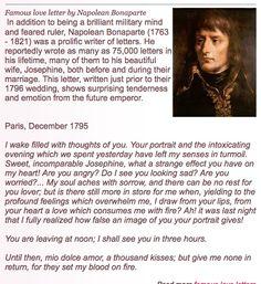 Napolean Bonaparte..Who could imagine..a romantic soul...