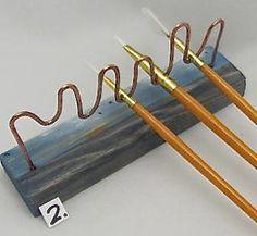 Art Tool Brush HolderBrush Accessory. Art Gift от ruddlecottage
