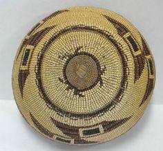 "Native American Indian HUPA Area Hat 7 1 8"" Circa 1900 Basket Three Color | eBay"