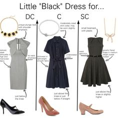 """""""Little Black Dresses for Classic Types"""" by thewildpapillon on Polyvore"""