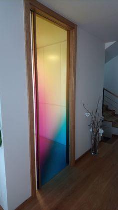 Digitally printed sliding glass door. For more info visit www.ingenio.sk
