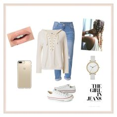 """My First Set!!  Casual Day"" by cocolush ❤ liked on Polyvore featuring Converse, WithChic, NSF, Skagen and Speck"