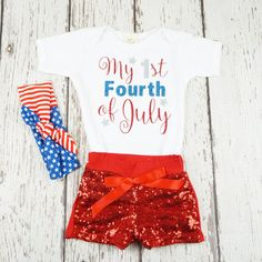 baby girl first fourth of july