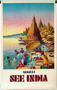 DP Vintage Posters - Banaras India Original Vintage Travel Poster