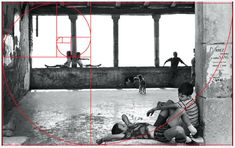 Objectivity vs Subjectivity: What Makes a Great Street Photograph? (Fibonacci spiral above a photo by Henri Cartier-Bresson)