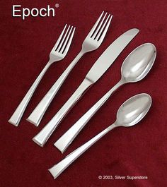 Epoch flatware by Yamazaki - Final clearance Stainless Steel Flatware, Epoch, Flatware Set, Tableware, Kitchen, Place Setting, Products, Dinnerware, Cooking