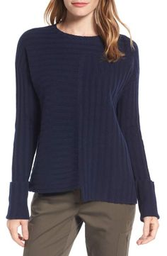 edb048d3bb8f Nordstrom Signature Asymmetrical Ribbed Cashmere Sweater | Nordstrom