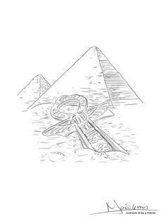 Egyptian Symbol Tattoo, Egyptian Symbols, Egyptian Art, Sketch Tattoo Design, Tattoo Sketches, Tattoo Drawings, Tattoo Designs, R Tattoo, Tattoo Outline