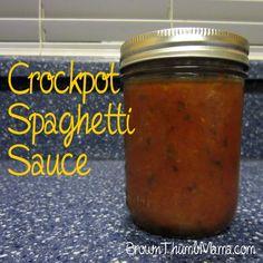 Brown Thumb Mama: Crockpot Spaghetti Sauce