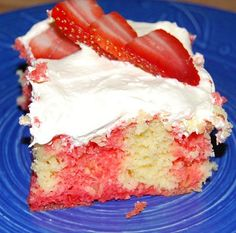 Strawberry Poke Cake for Valentine's Day! – Sixty Second Parent